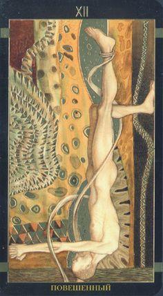 XII. The Hanged Man: Golden Tarot of Klimt