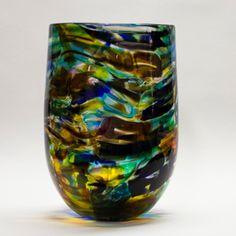 Vessel Cake Basket, Hand Blown Glass, Glass Art, Vase, Beautiful, Collection, Vases, Blown Glass, Jars