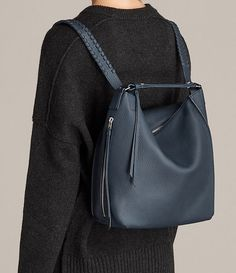Womens Kita Small Backpack (Marine Blue) - product_image_alt_text_2
