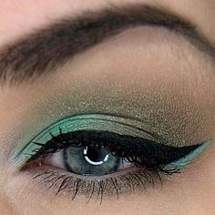 Magical Look for Green, Blue & Hazel Eyes - Recreate with Dragon & Honeydew Eyeshadows & Black Liner - gracemyfaceminerals.co