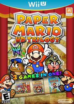 Paper Mario HD Trilogy by on DeviantArt Super Mario World, Super Mario Bros, Paper Mario 64, Mario Party Games, Nintendo 64 Games, Saga, Mario Bros., First Game, Color Splash