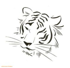 Resultado de imagen para tiger tattoo black and white