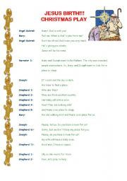 English worksheet: Christmas play! (3 pages)