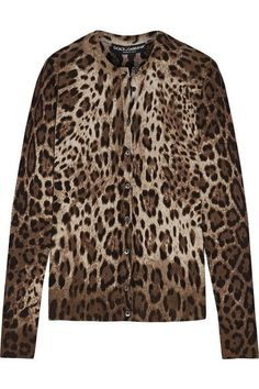 377ba6b099514b Dolce   Gabbana - Leopard-print Cashmere And Silk-blend Cardigan - Leopard  print