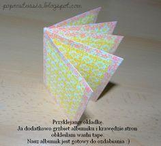"Tutorial ""album i kurs."" Mini book made from 1 sheet of 12x12 paper.  @ Po prostu Asia"