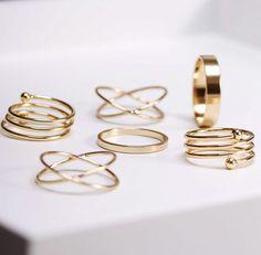 6ps golden ring set at www.favorwe.com ,all kinds of cheap fashion necklace,bracelet,ring,earring,shop at www.favorwe.com