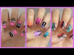 Easy Nail Art For Beginners!!! #12 - MissJenFABULOUS;  the second design is so pretty!