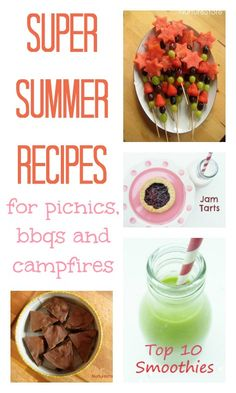 Super recipes kids can make this summer – perfect for barbecues, picnics and camping trips.
