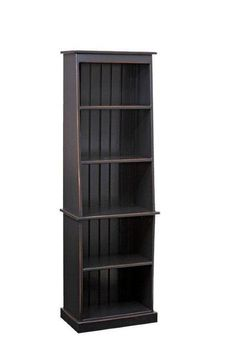 Amish Pier Pine Bookcase Shiplap back with fixed shelves. Made in Pennsylvania with solid pine wood. Choice of stain, paint or distressed finish.