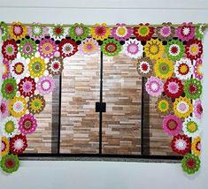 Crochet Decoration, Crochet Home Decor, Diy Crochet, Crochet Bedspread, Crochet Curtains, Japanese Flowers, Diy Tutorial, Crochet Projects, Dream Catcher