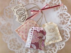 Fabric tea bags are adorable. I would use this as decor for the breakfast area.
