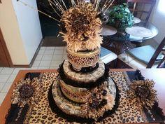 Animal print money cake