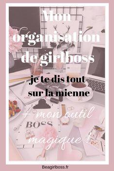 Je te dis tout dans mon organisation de girlboss , comment j'organise mon business et entreprise avec Trello Filofax, Girl Group, Blog, Place Card Holders, Business, Social Media, Organization, Aide, Girl Boss