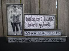 Personalized Wooden Name Blocks  MARRIAGE by Memoriesoffaith