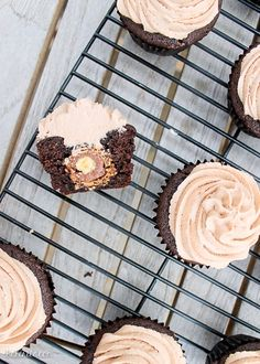 Put all your holiday Ferrero Rochers to good use by baking them inside chocolate cupcakes with Nutella bakerita.
