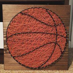 Basketball String Art, Sports- order from KiwiStrings on Etsy! www.kiwistrings.etsy.com