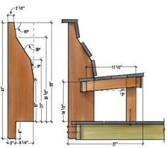 Figure 1. The secret to a comfortable bench is getting the height and the angles right. The author's design is based on that of a comfortable chair, the shape of which he traced onto a plywood template.