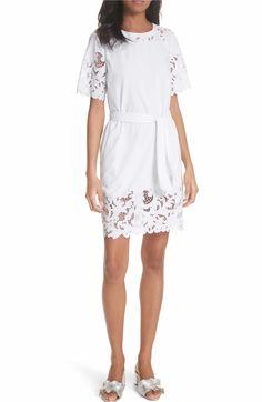 e465a63f2f3 Main Image - La Vie Rebecca Taylor Embroidered Jersey Dress Simple Dresses
