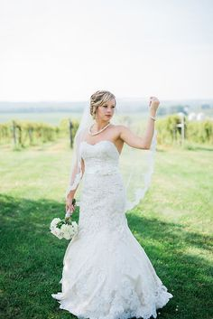 Iowa vineyard bridal portrait. Image by Nicole Corrine