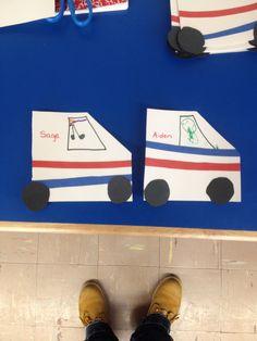 Community helpers. Mail carrier trucks!