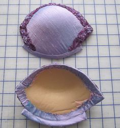 Tutorial-Covered Bra Cups-Each of these cups could be used for bra making, but they can also be used with corsets