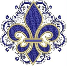 Lacy Fleur de Lis Embroidery Design by DrusDesigns on Etsy Embroidery Designs, Embroidery Tattoo, Gold Embroidery, Embroidery Patches, Grafik Design, Coat Of Arms, Etsy, Machine Embroidery, Ceramic Art