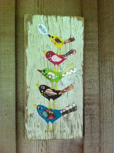 Original Mixed Media on a Repurposed Board.. $68.00, via Etsy. THis artist is wonderful!