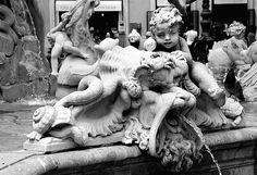 Little angels, crabs and monsters at Piazza Navona Neptune fountain | Flickr - Photo Sharing!