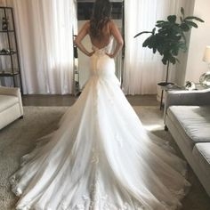 @martinalianabridal style 906 makes us want to get married over and over  • • • • #martinaliana #weddingdress #wedding #trainfordays