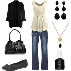 Girls' Night / Casual--my first Polyvore outfit.  Love it!