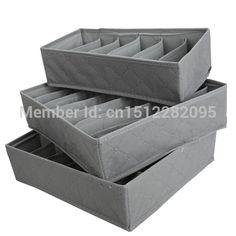 3 en 1 sous - vêtements soutien - gorge chaussettes de stockage organisateur Box Case sac de charbon de bambou E2shopping