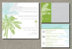 Tropical Invitations by huntandgatherpaper ........use sand dollar mama jane would like it and a star fish design
