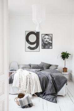Mix of textures Decor Room, Home Decor Bedroom, Scandinavian Interior Bedroom, Beautiful Interior Design, New Room, Decoration, Interior Architecture, Bedrooms, Fig Tree