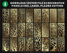 6 Natural Texture for laser / plasma / CNC for decorative partitions panel screen. File good quality tested at machine cnc. Laser Cut Screens, Laser Cut Panels, Wood Panel Walls, Panel Wall Art, Geometric Patterns, Floral Patterns, Autocad, Cnc Laser, Adobe Illustrator