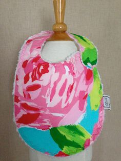 lilly pulitzer baby bib. I obvi will need one of these one day.