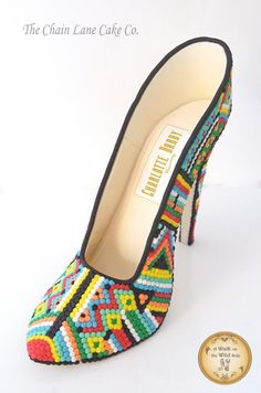 Bead shoe - A Walk on the Wild Side by The Chain Lane Cake Co.