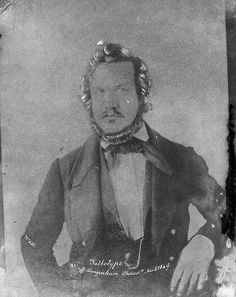 A calotype print showing the American photographer Frederick Langenheim (circa 1849). Note, the caption on the photo calls the process Talbotype