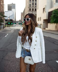Blazer Outfits, Blazer Fashion, Edgy Outfits, Modest Outfits, Work Outfits, Coats For Women, Jackets For Women, Clothes For Women, White Summer Outfits
