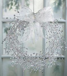 Clear Beaded Wreath voor de winter, is net ijs