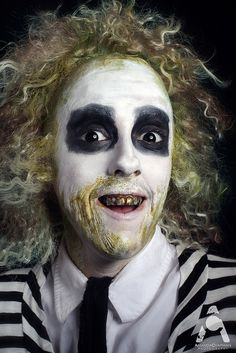 Halloween Makeup Beetlejuice by Amanda Chapman https://www.facebook.com/amandachapmanphotography