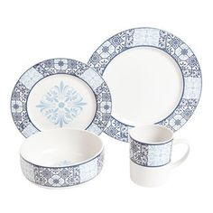 @Overstock - Adorn your table with this 16-piece dinnerware set from Gibson. A stoneware construction with a blue and white design finish this set.http://www.overstock.com/Home-Garden/Gibson-Imperial-Deruta-16-piece-Dinnerware-Set/6642068/product.html?CID=214117 $35.09