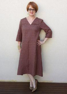 Lara's Tessuti Sophie Dress in silk cotton from Darn Cheap Fabrics