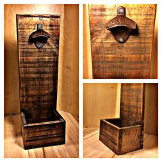 Rustic wall mounted bottle opener, homemade perfect gift for any occasion…