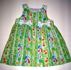 Toddler Dress/Jumper Farm Animals Size 18M by kutekidskreations, $20.00
