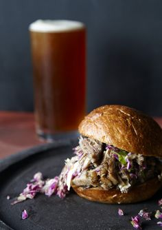 Maple & Apple Slow Cooker Pulled Pork. photo by Jennifer Causey     Perfect pub grub - I could eat this now...perfect for this change in weather...Sydney winter is definitely on it's way...I'm going to embrace it this year with open arms, an open fire and hearty food!