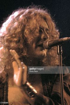 Robert Plant of Led Zeppelin during Led Zeppelin In Concert Madison Square Garden - 1977 at Madison Square Garden in New York City, New York, United States.