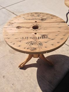 Reclaimed Spool Coffee Table, Wooden Spool Table, Upcycled Wooden Furniture