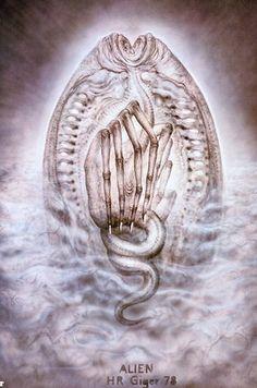 "Original ""Alien"" Concept Art by H.R. Giger"