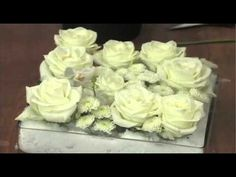 How to create a winter look centerpiece with Roses, Orchids and Color-Tex! - YouTube