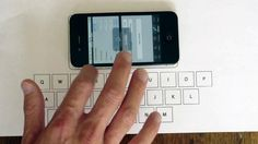 An App That Turns Any Surface Into An iPhone Keyboard  AN ASTONISHING APP USES AN IPHONE'S ACCELEROMETER TO SENSE THE LOCATION OF A TAP ON ANY SURFACE AND TRANSLATE IT INTO TYPED LETTERS ON A KEYBOARD.